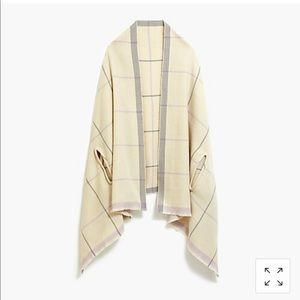 Plaid cape scarf nwt